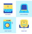 smart house gadgets icon set in flat style vector image