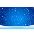 Snowfall and drifts vector image