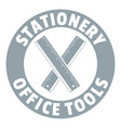 stationery office tool logo simple gray style vector image