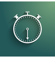 Stopwatch icon with trendy shadow and background vector image vector image