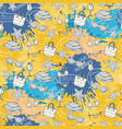 summer pattern on the background vector image vector image