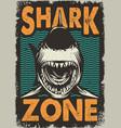 vintage dangerous zone for surfing concept vector image