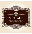 vintage frame vector background vector image vector image