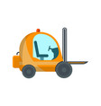 warehouse forklift cart in flat style vector image vector image