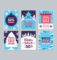 winter sale cards christmas promo banners big vector image