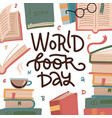 world book day - greeting card or banner stack vector image vector image