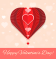 abstract heart air ballon valentines day greeting vector image