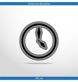 clock web flat icon vector image