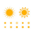 sun collection on white background vector image