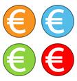 Euro sign button set vector image