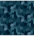 Military blue camouflage seamless pattern For vector image
