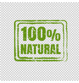100 natural product transparent background vector image vector image