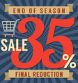 35 Percent End of Season Sale vector image vector image