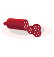 a piece sausage often made ground meat vector image