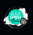 abstract black friday sale background with ink vector image vector image