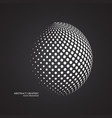abstract globe dotted sphere 3d halftone dot vector image vector image