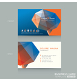 Abstract low poly business card design template vector image
