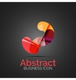 Abstract symmetric business icon vector image
