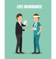 agent insurance healthy design vector image vector image