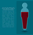 anemia design concept human body shaped tube with vector image vector image