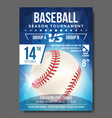 baseball poster banner advertising sport vector image
