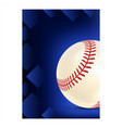 baseball stitched ball typography poster vector image vector image