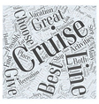 best cruise lines Word Cloud Concept vector image vector image