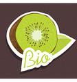 Bio kiwi tag vector image vector image