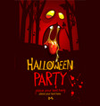 cartoon halloween party invitation vector image