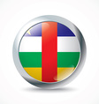 Central African Republic flag button vector image vector image