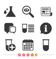 chemistry bulb with drops sign medical test vector image