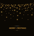 christmas background with lights vector image vector image