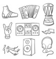 collection stock musical doodles vector image vector image