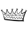 crown drawing on white background vector image vector image