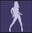 dancer behind bead curtain vector image vector image