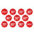 discount sticker number discount number set vector image vector image