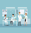 doctors in medical lab vector image