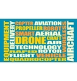 Drone relative word cloud vector image vector image