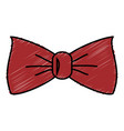 elegant bowtie isolated icon vector image vector image