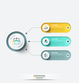 elements for infographic template vector image