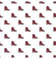 fashion red shoe pattern seamless vector image vector image