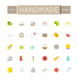 Flat Handmade Icons vector image