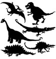 funny dinosaurs set vector image vector image