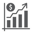 growth rate glyph icon finance and banking vector image vector image