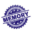 grunge textured memory stamp seal vector image