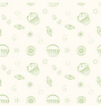 hand drawn seamless patterns with cupcakes vector image