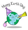 happy earth day cartoon design vector image vector image