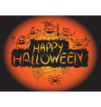 happy halloween pumpkin devil ghost art face vector image