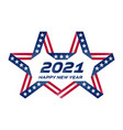 happy new year 2021 flyer with usa flag colors vector image vector image
