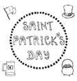 happy saint patrick s day hand drawn st patrick vector image vector image